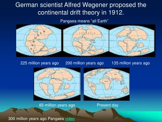 225 million years ago      200 million years ago       135 million years ago