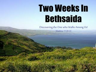 Two Weeks In Bethsaida