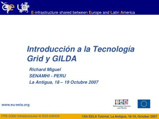 Introducci�n a la Tecnolog�a Grid y GILDA