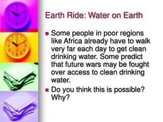Earth Ride: Water on Earth