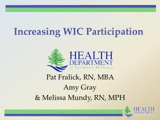 Increasing WIC Participation