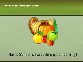 November News from Harris School