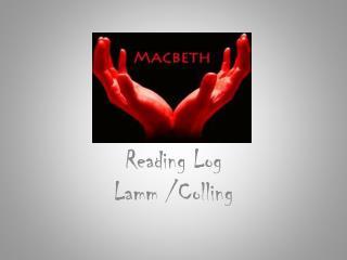 Reading Log Lamm  / Colling