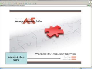 Adviser & Client logins