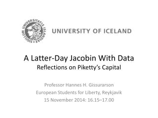 A Latter-Day Jacobin With Data Reflections on Piketty's Capital