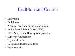 Fault-tolerant Control