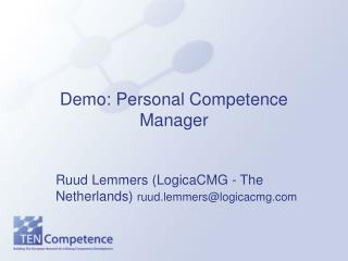 Demo: Personal Competence Manager