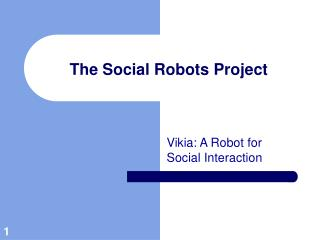 The Social Robots Project