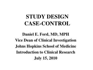 STUDY DESIGN CASE-CONTROL