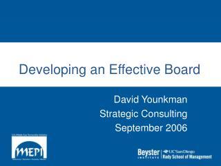 Developing an Effective Board