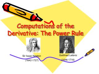 Computations of the Derivative: The Power Rule