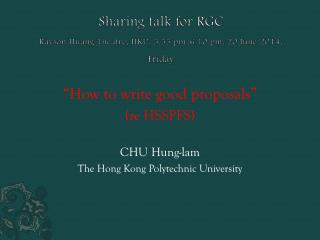 Sharing  talk for  RGC Rayson  Huang Theatre, HKU,  5.55 pm-6.10  pm, 20 June 2014,  Friday