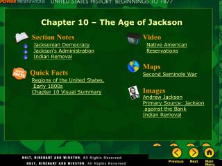 Chapter 10 – The Age of Jackson