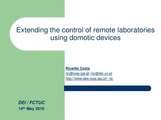 Extending the control of remote laboratories  using domotic devices