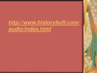 historybuff/audio/index.html