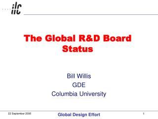 The Global R&D Board Status