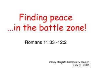 Romans 11:33 -12:2