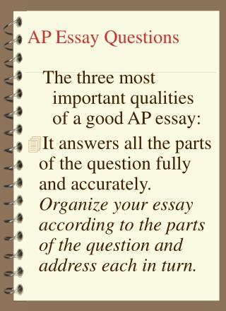 AP Essay Questions
