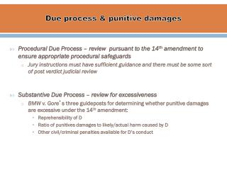 Due  p rocess &  p unitive damages