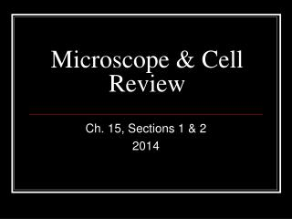 Microscope & Cell Review