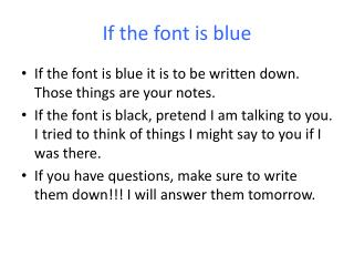 If the font is blue