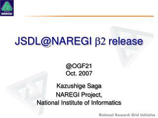 JSDL@NAREGI  b2  release