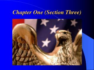 Chapter One (Section Three)