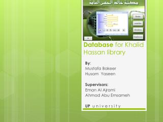 Database  for Khalid Hassan library