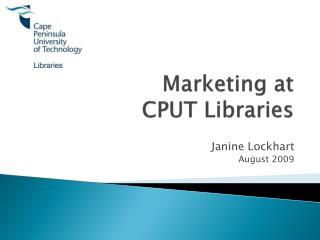 Marketing at  CPUT Libraries