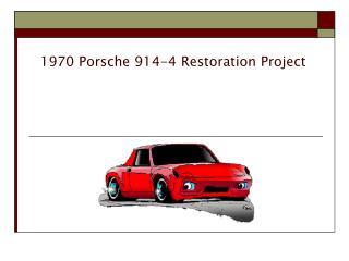 1970 Porsche 914-4 Restoration Project