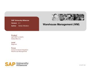 Warehouse Management (WM)