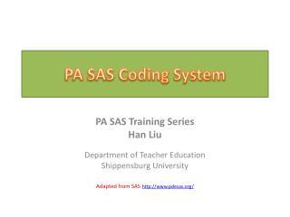 PA SAS Coding System
