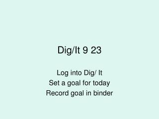 Dig/It 9 23