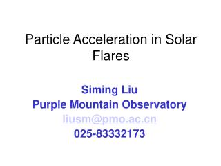 Particle Acceleration  in Solar Flares