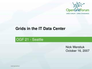 Grids in the IT Data Center
