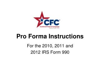 Pro Forma Instructions