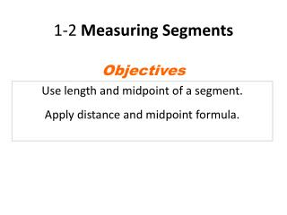 1-2  Measuring Segments