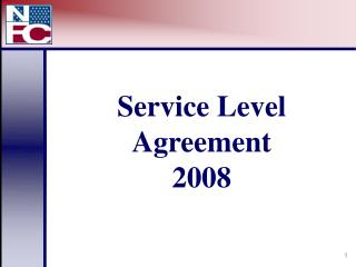 Service Level Agreement 2008