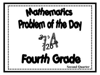 problem of the day gr4 2nd qtr