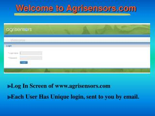 Welcome to Agrisensors