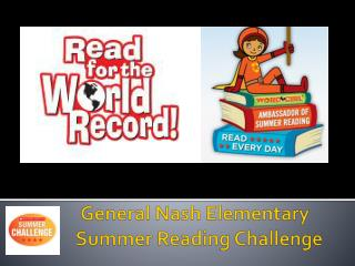 General Nash Elementary Summer Reading Challenge