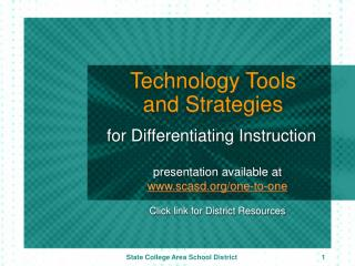 Technology Tools and Strategies