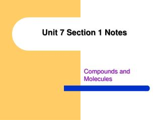 Unit 7 Section  1 Notes
