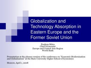 Globalization and Technology Absorption in Eastern Europe and the Former Soviet Union