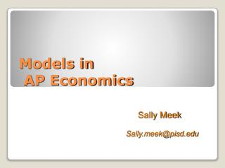 Models in  AP Economics