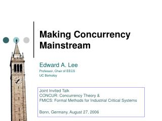 Making Concurrency Mainstream