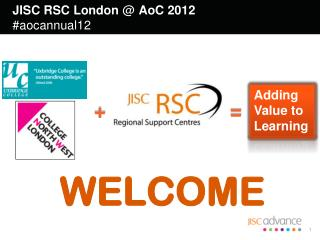 JISC RSC London  @  AoC 2012  #aocannual12