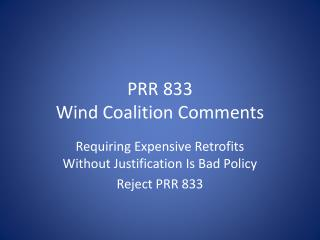 PRR 833 Wind Coalition Comments