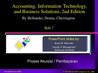 Accounting, Information Technology, and Business Solutions, 2nd Edition