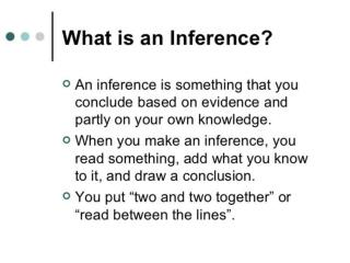 Inferences Explanations